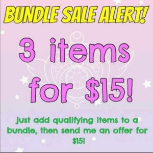 🤗 3 for 15$ Bundle Sale!!